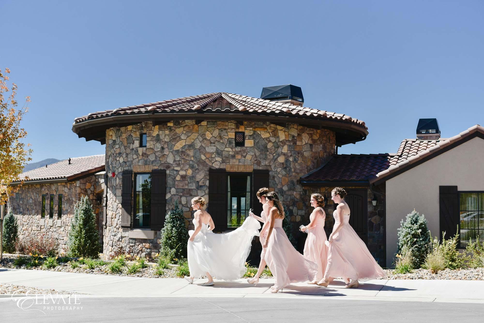 bridesmaids colorado springs flying horse