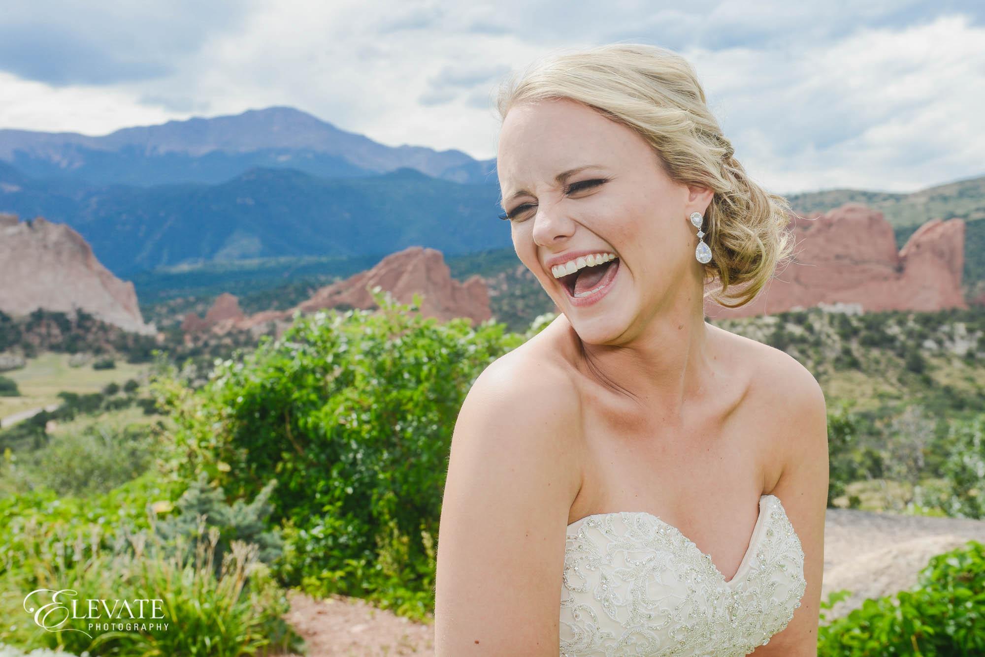 bride colorado springs wedding