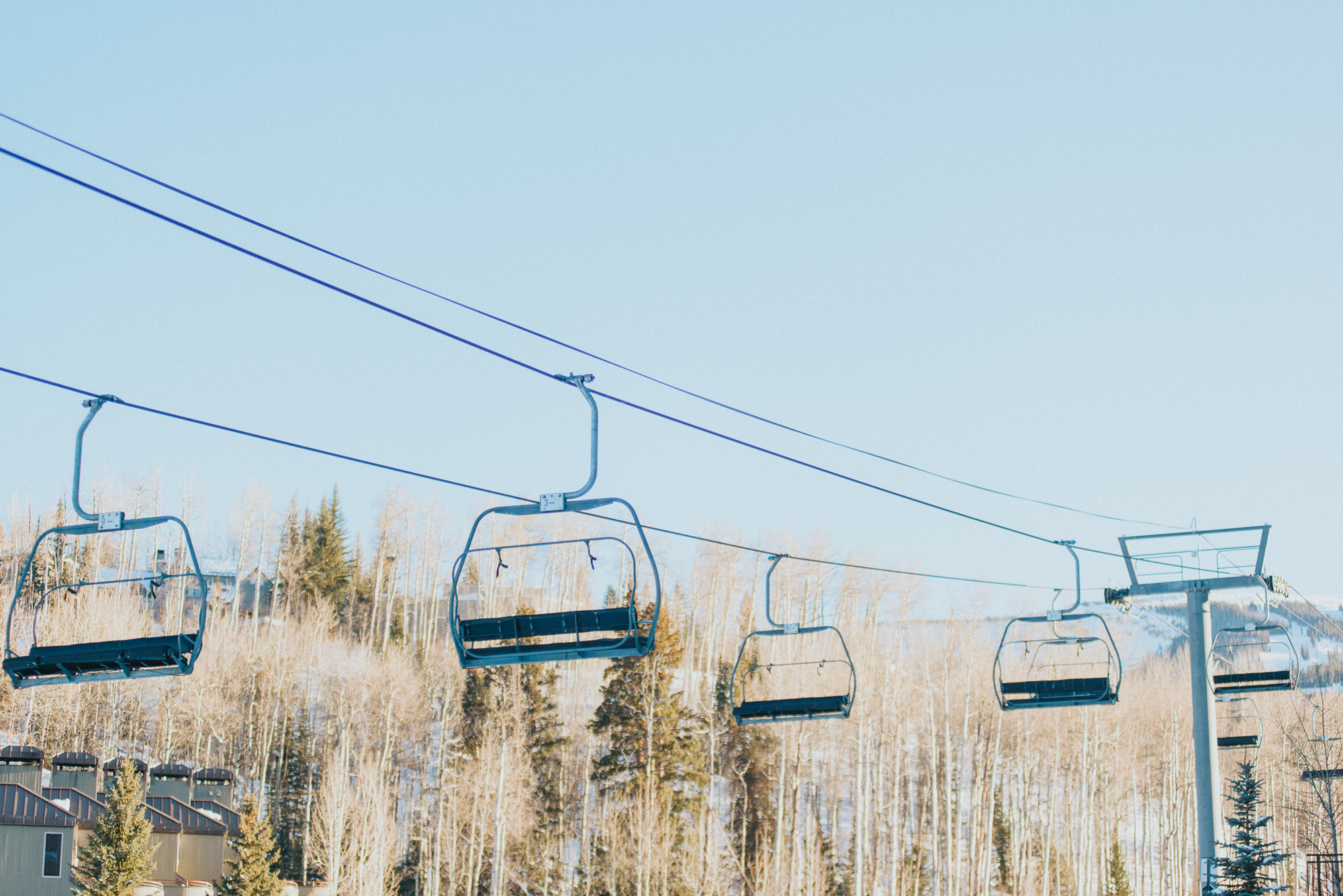 ski lift winter snow aspen wedding