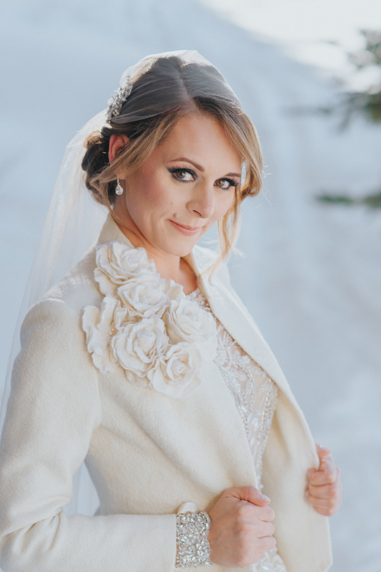 Bride portrait at Viceroy snowmass near Aspen