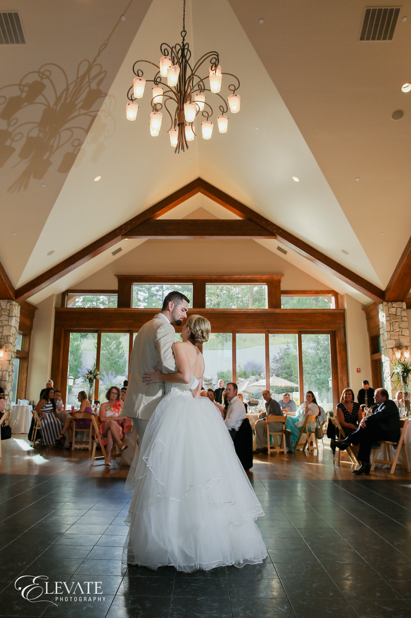first dance wedding reception indoor castle rock