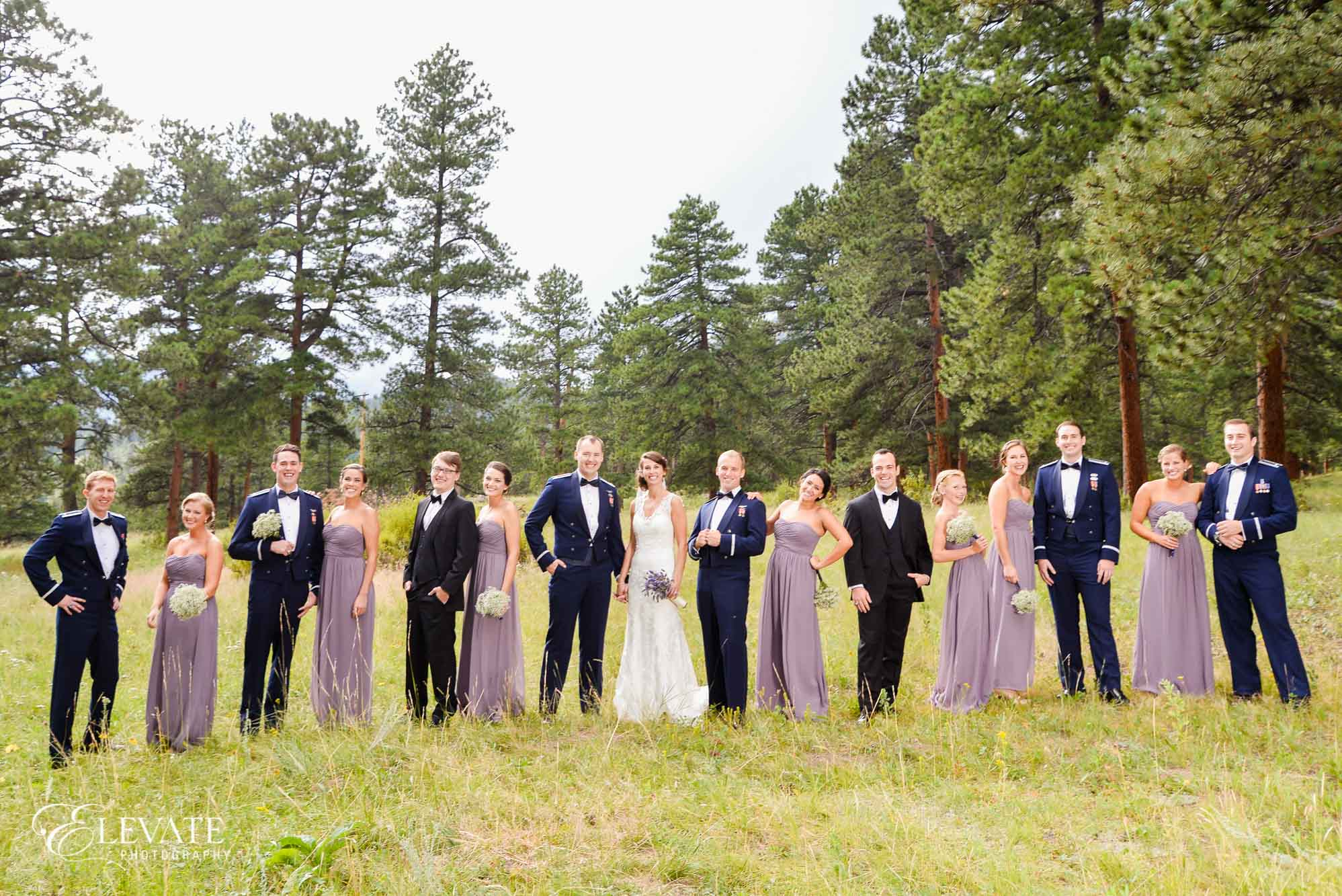 bridesmaids lavender dresses Della Terra