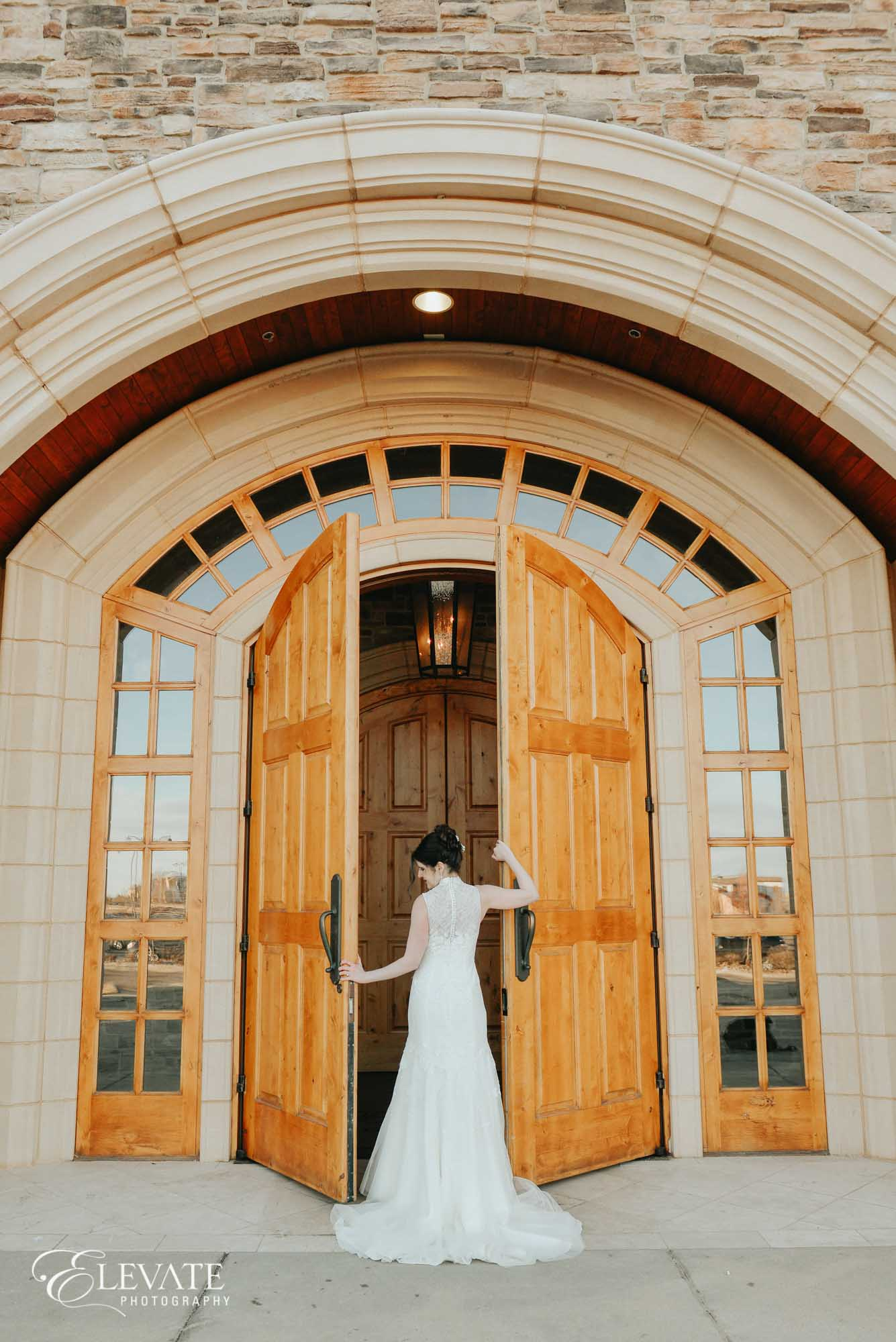aurora bridal portrait door black bear golf club