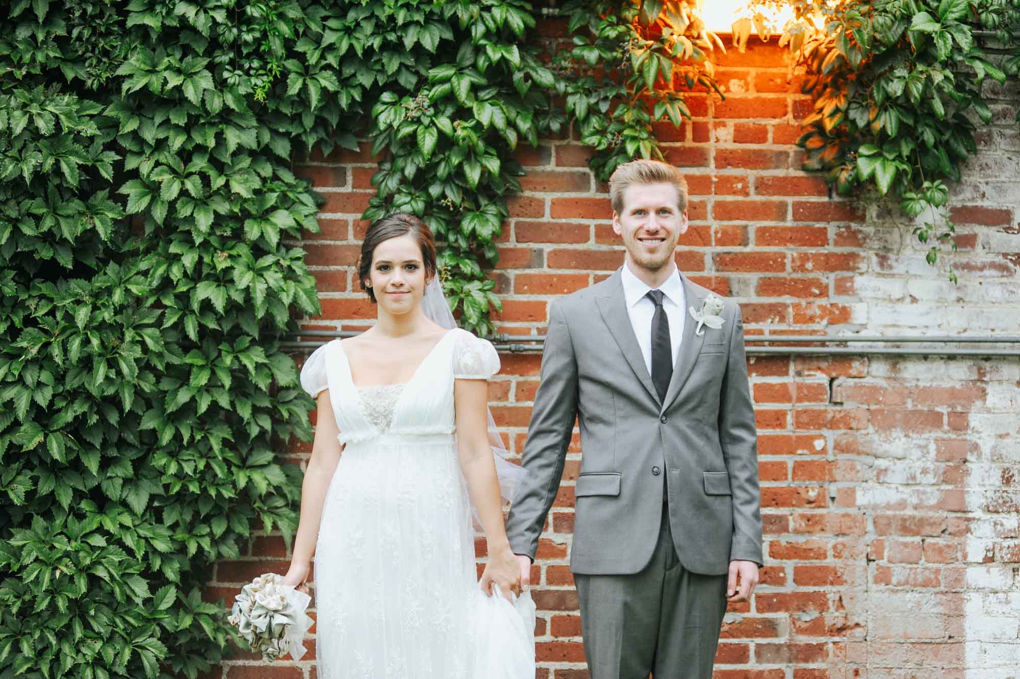 Bride and groom at Grant Humphreys Mansion