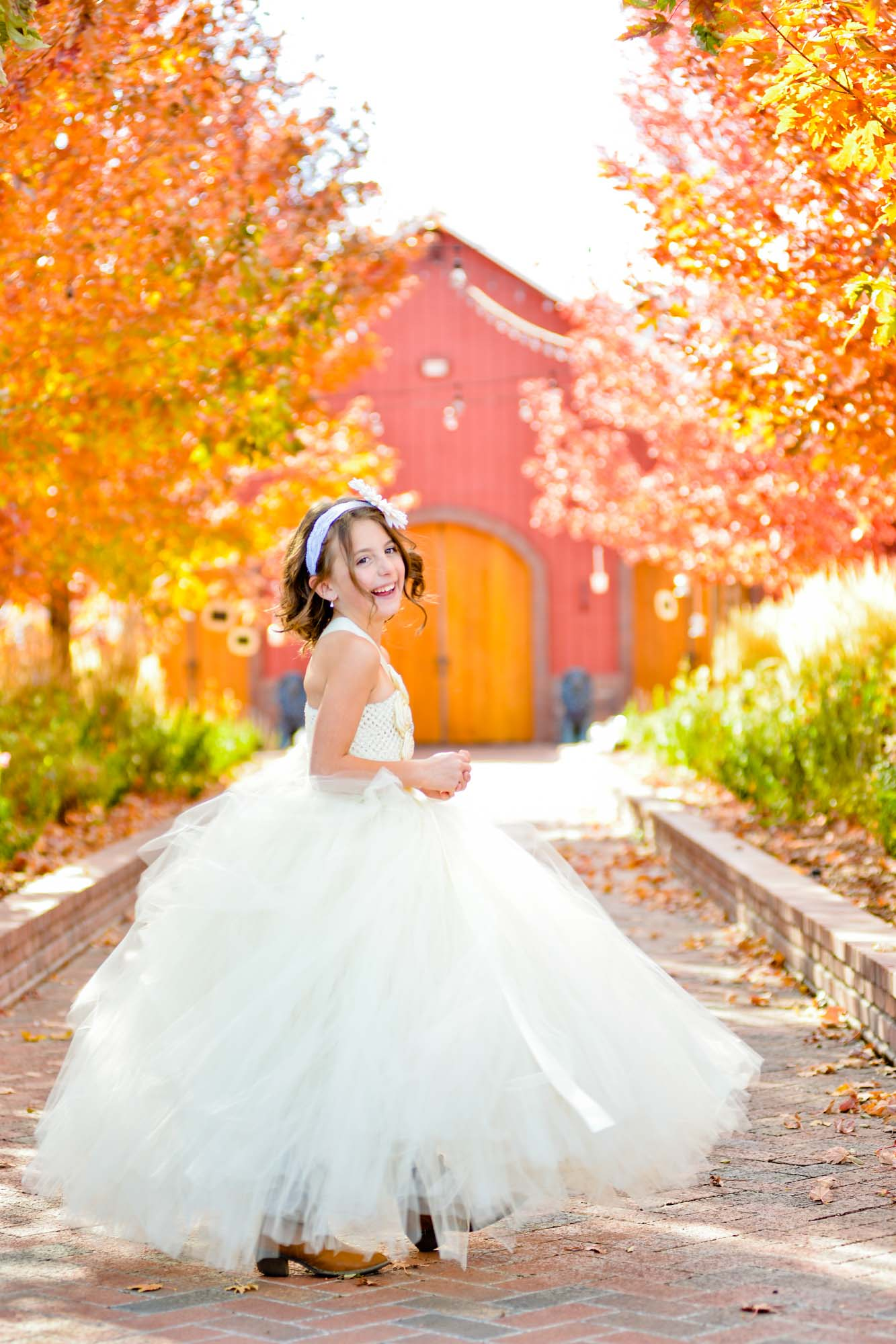 flower girl at crooked willow