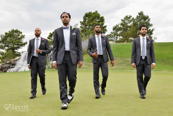 groomsmen at golfcourse