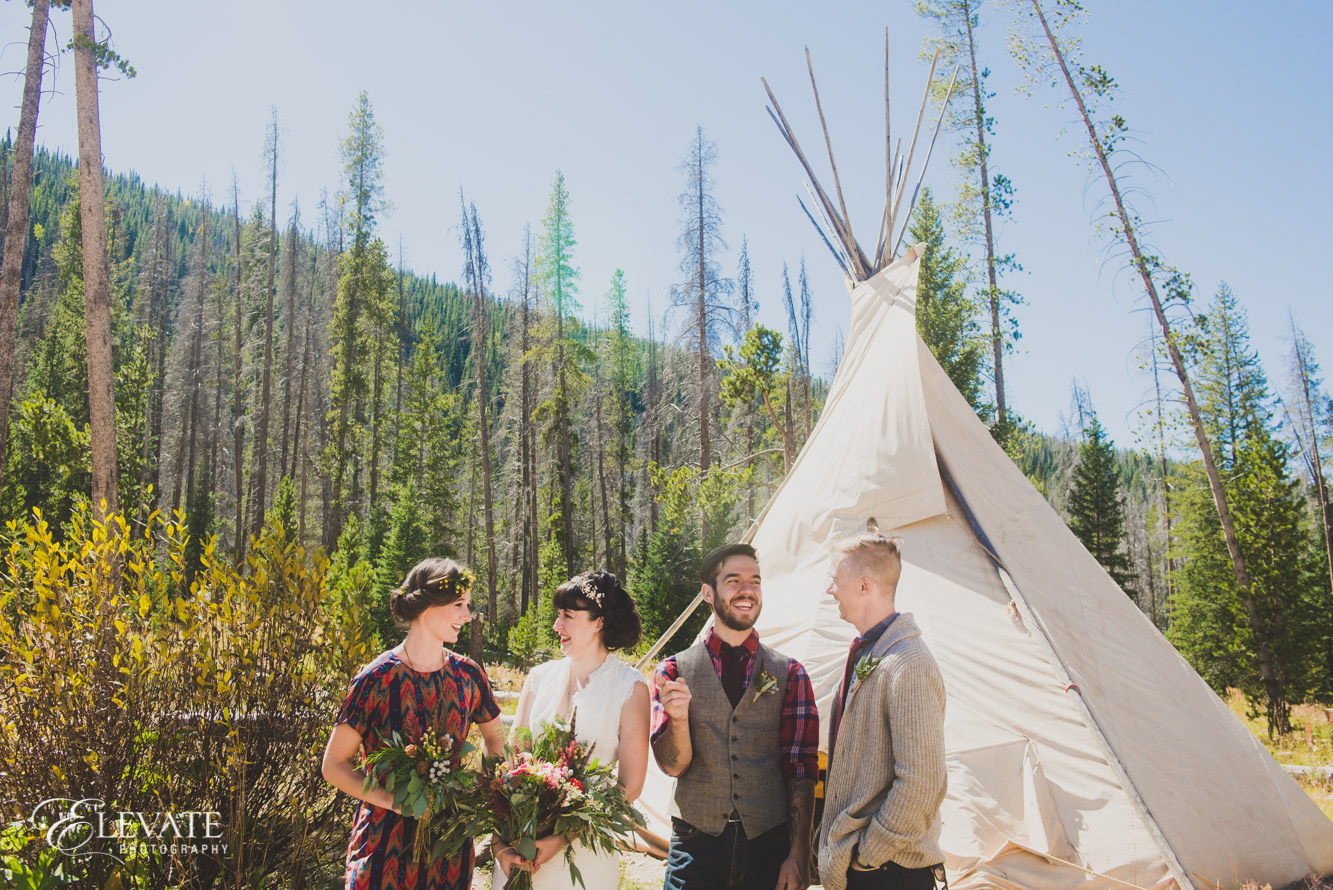 teepee wedding party