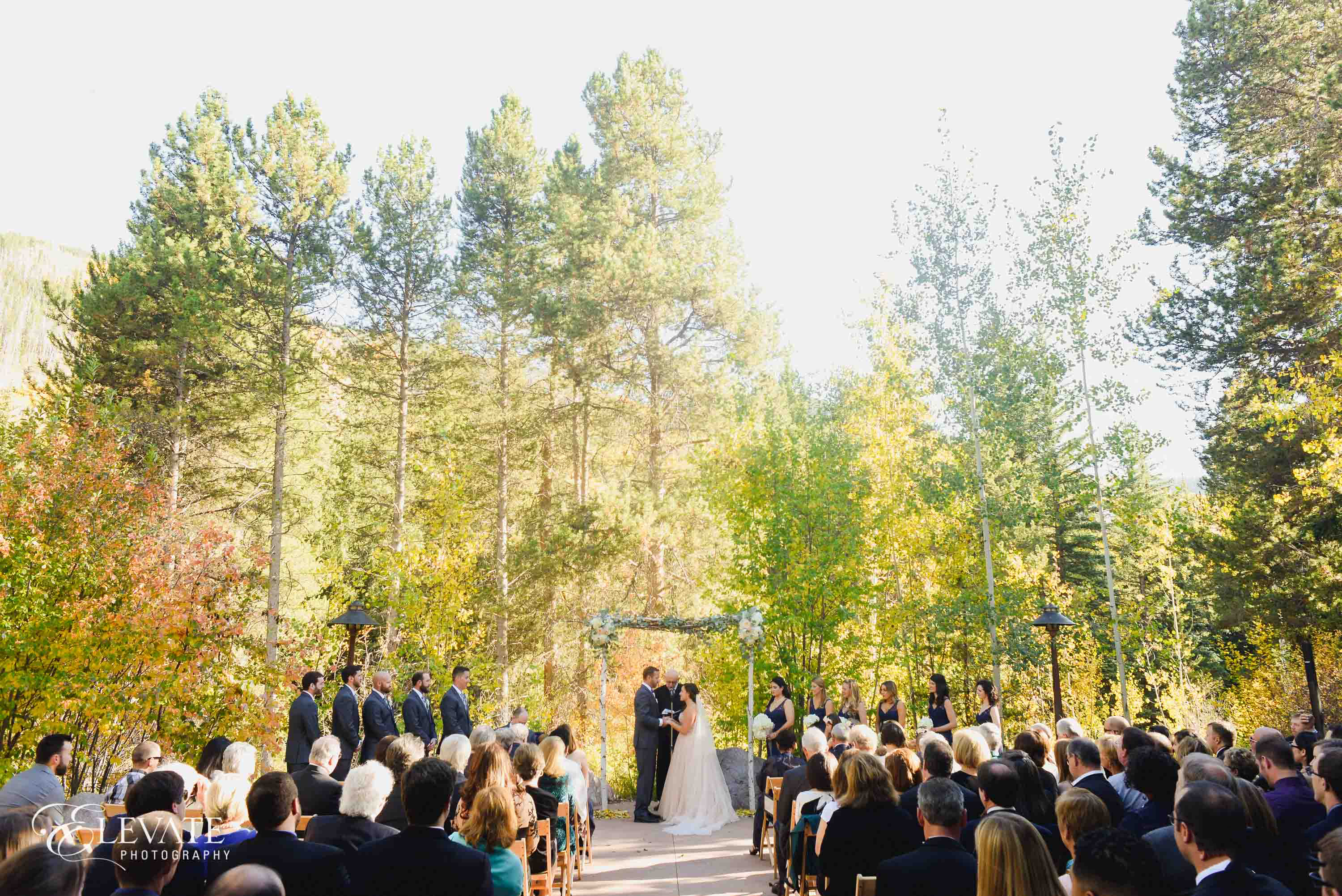 wedding ceremony fall in Vail