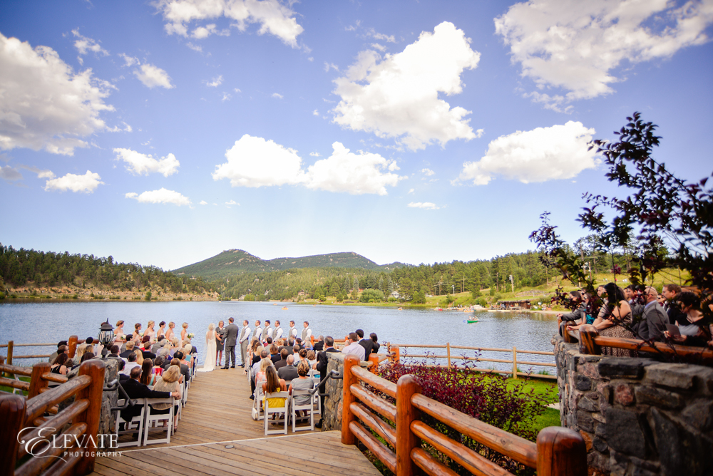 lake wedding ceremony