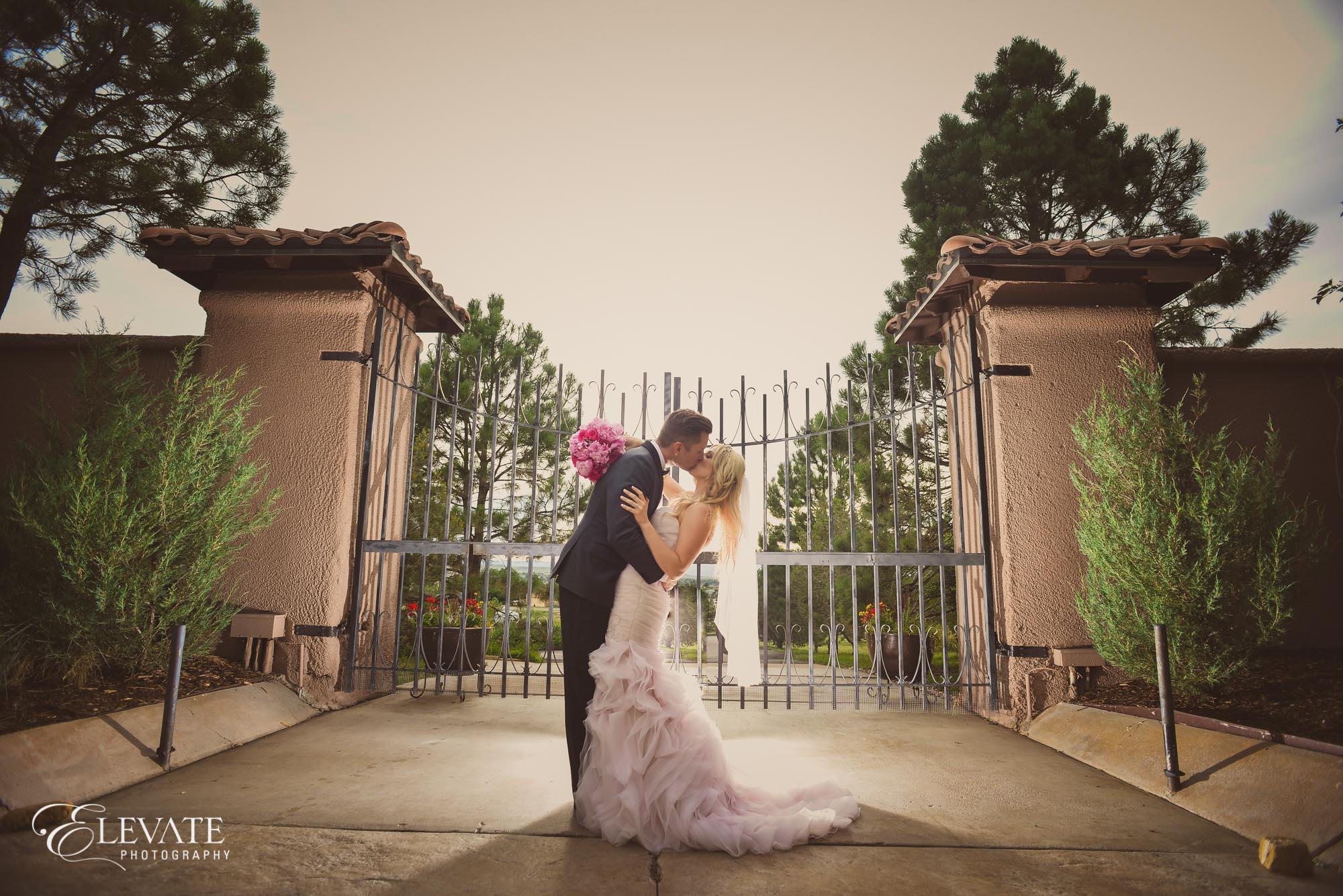 bride groom gate parker