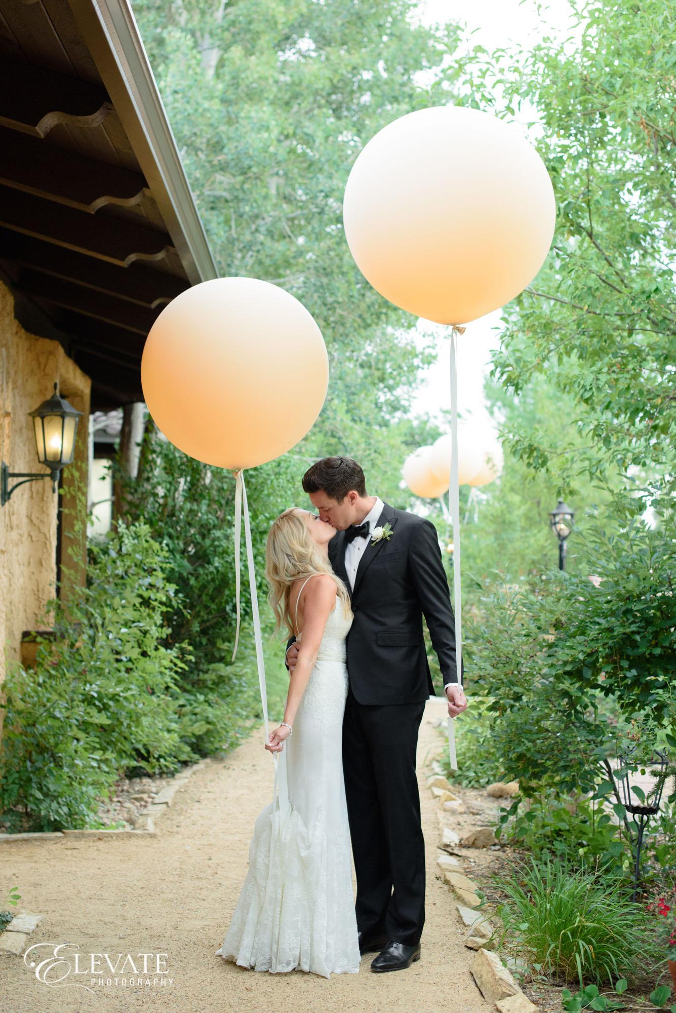 wedding balloon peach