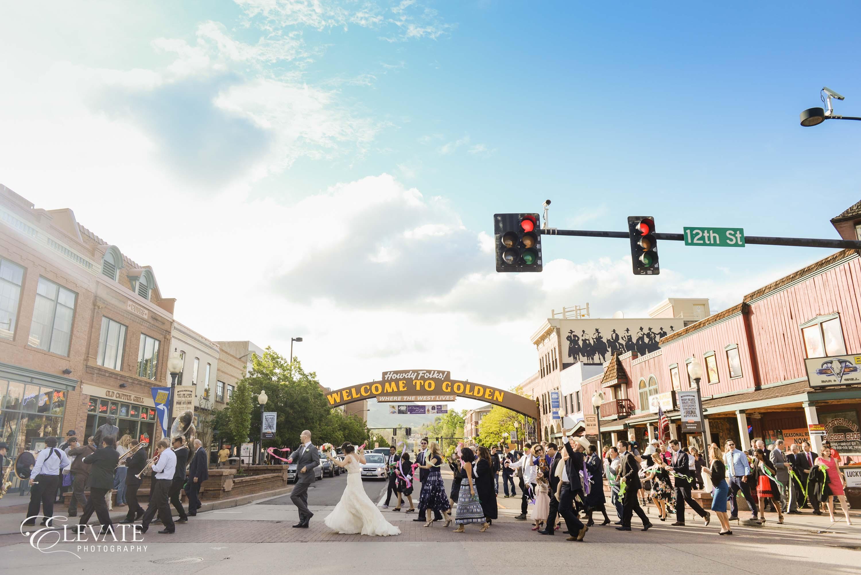 second line wedding march in Golden