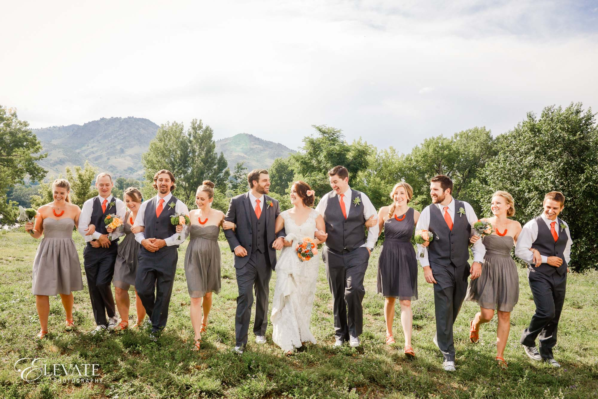 wedding party rustic