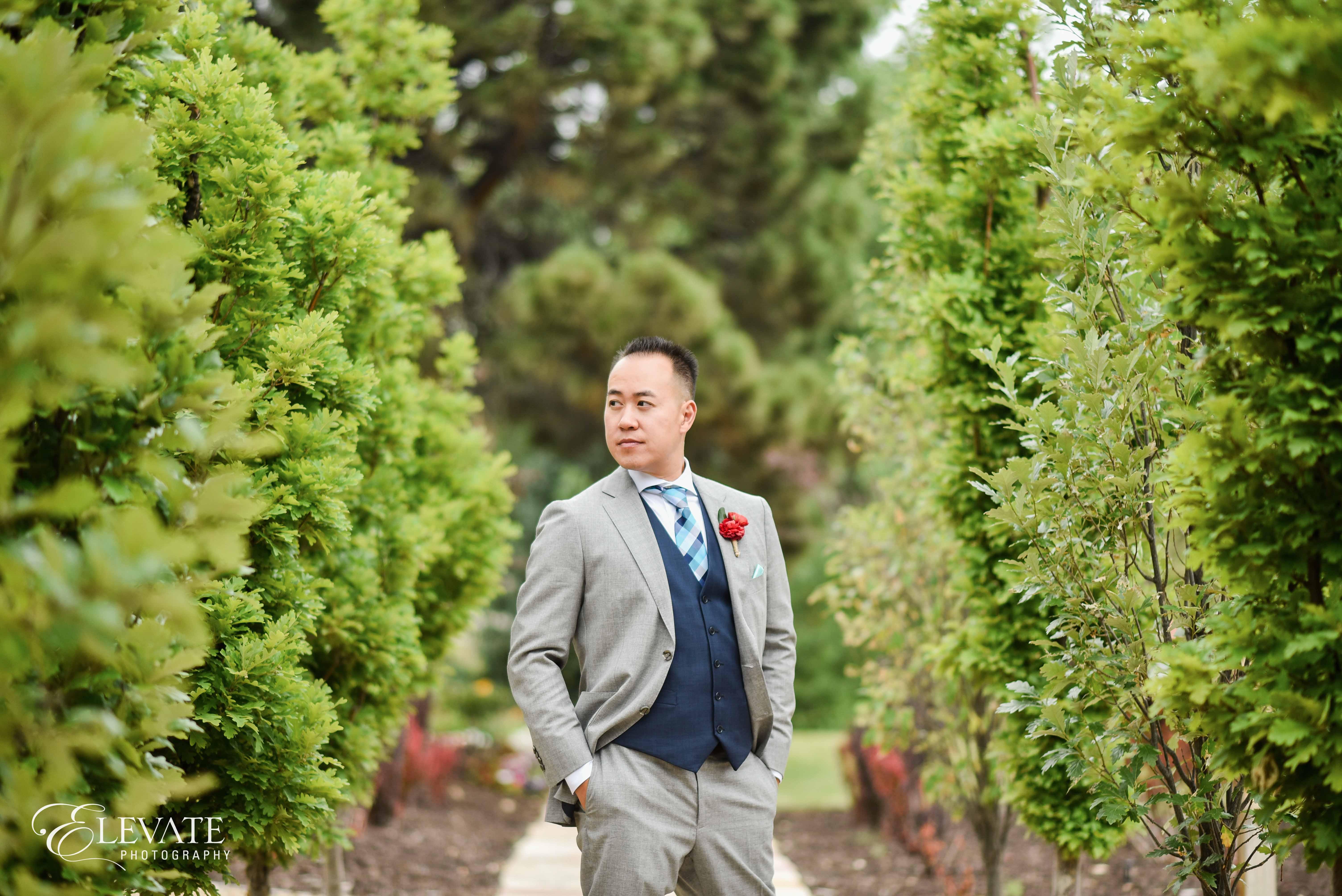 groom gray suite