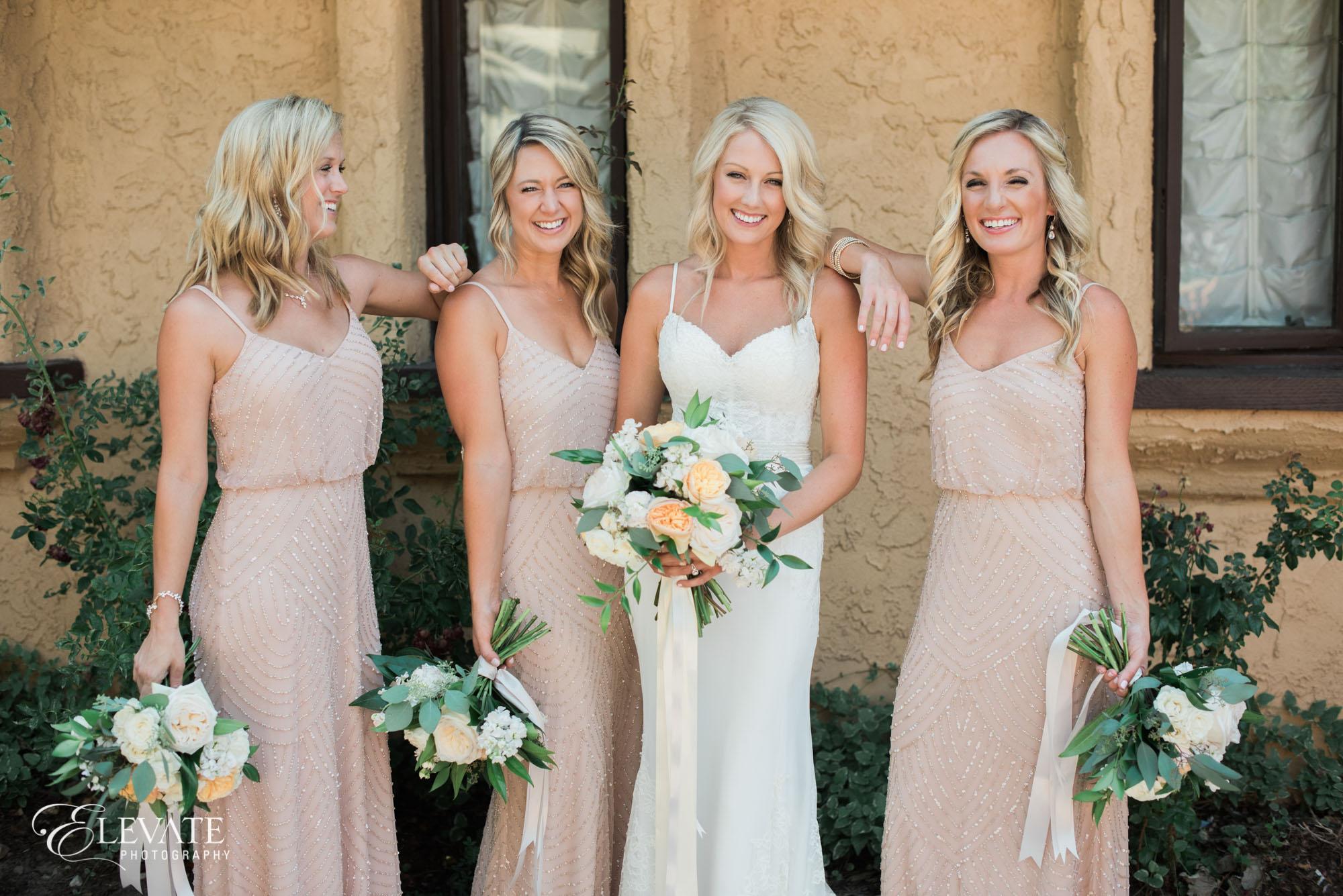 bridesmaids gold dresses