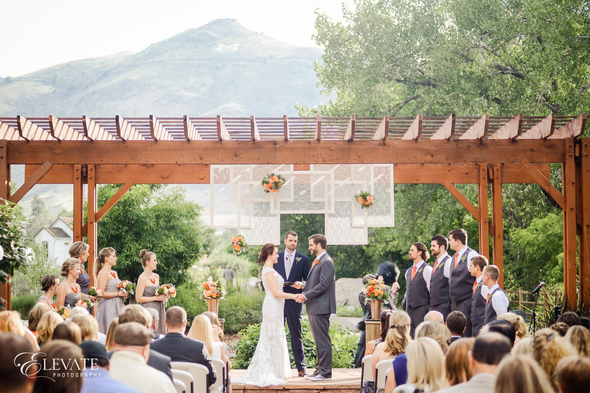 outdoor foothills wedding ceremony