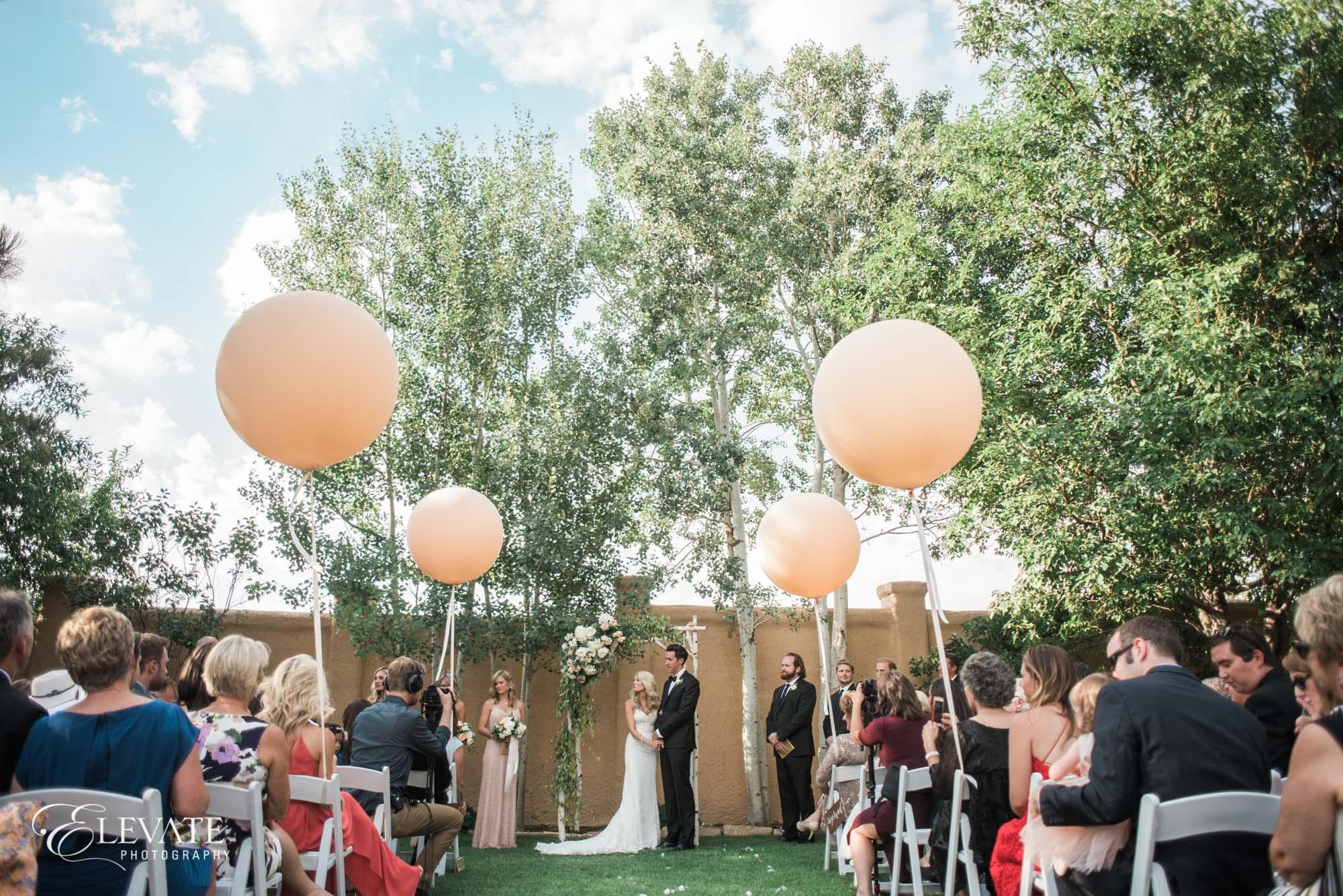 wedding ceremony peach balloon