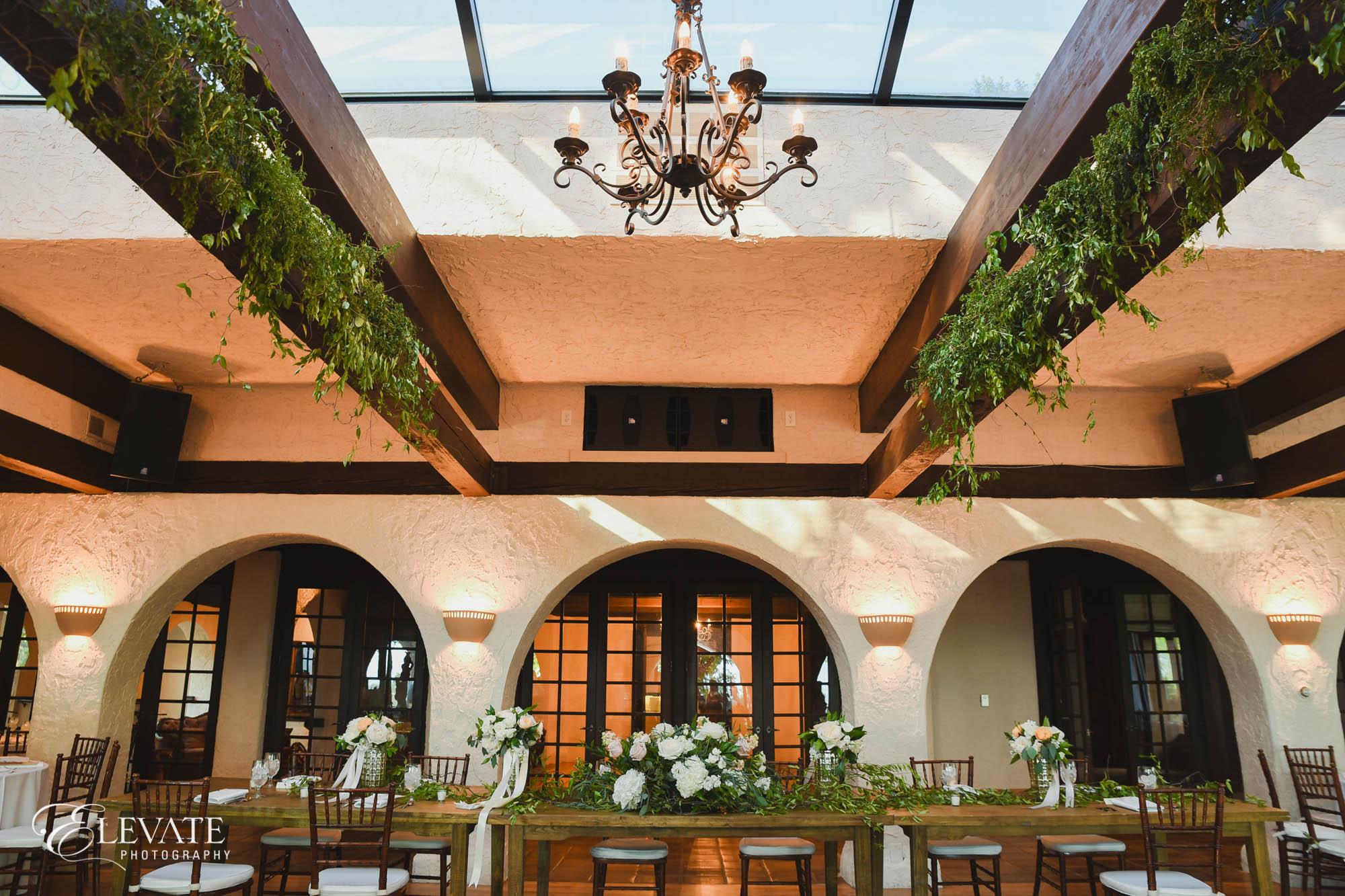 wedding reception at Villa Parker
