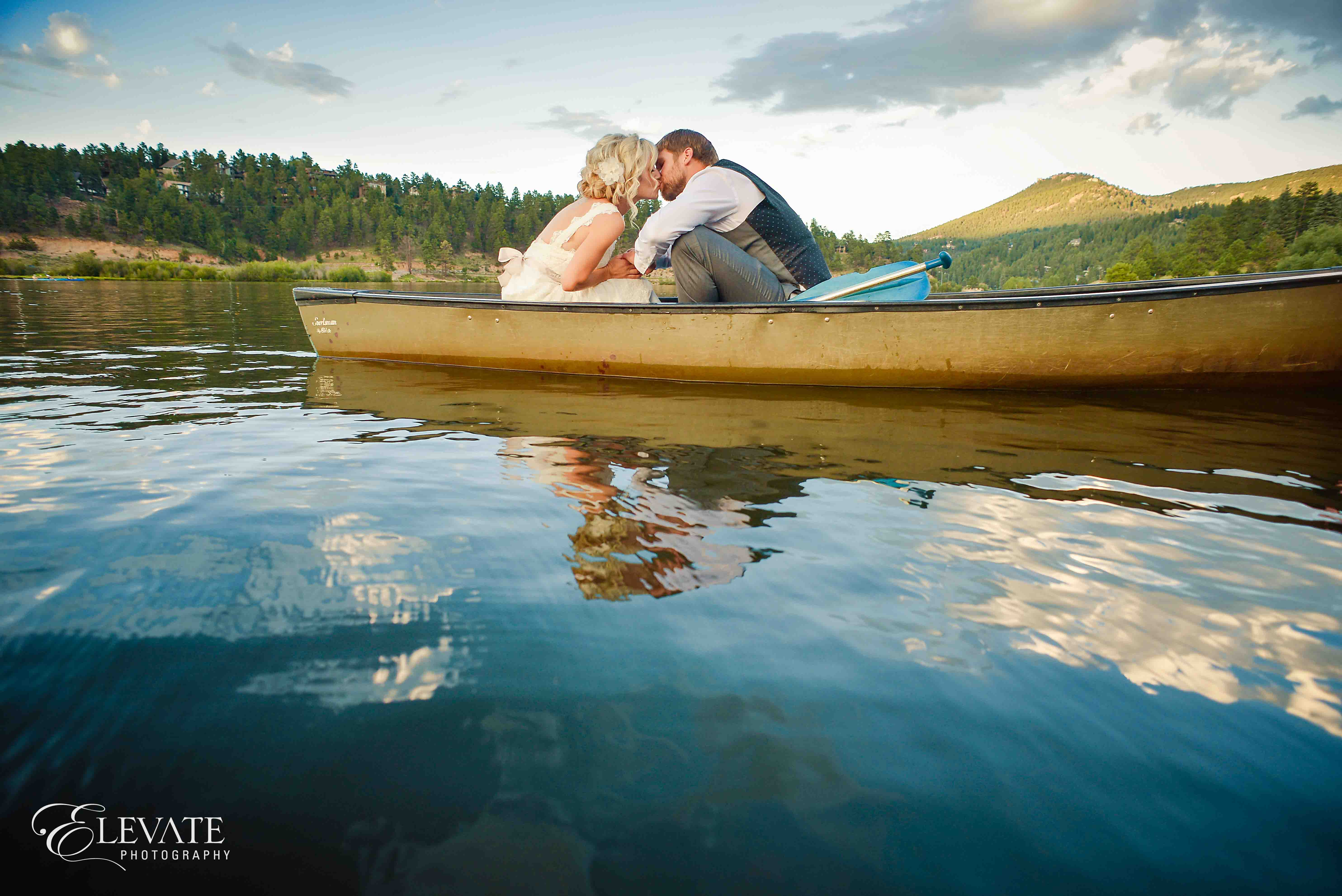 couple in canoe lake