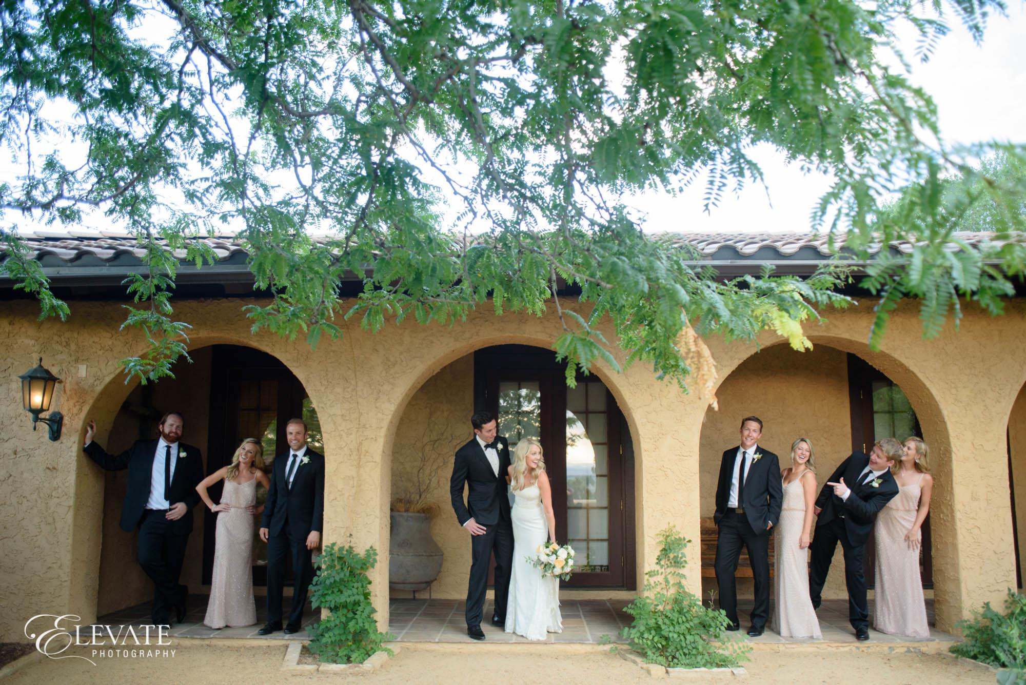 wedding party at villa parker