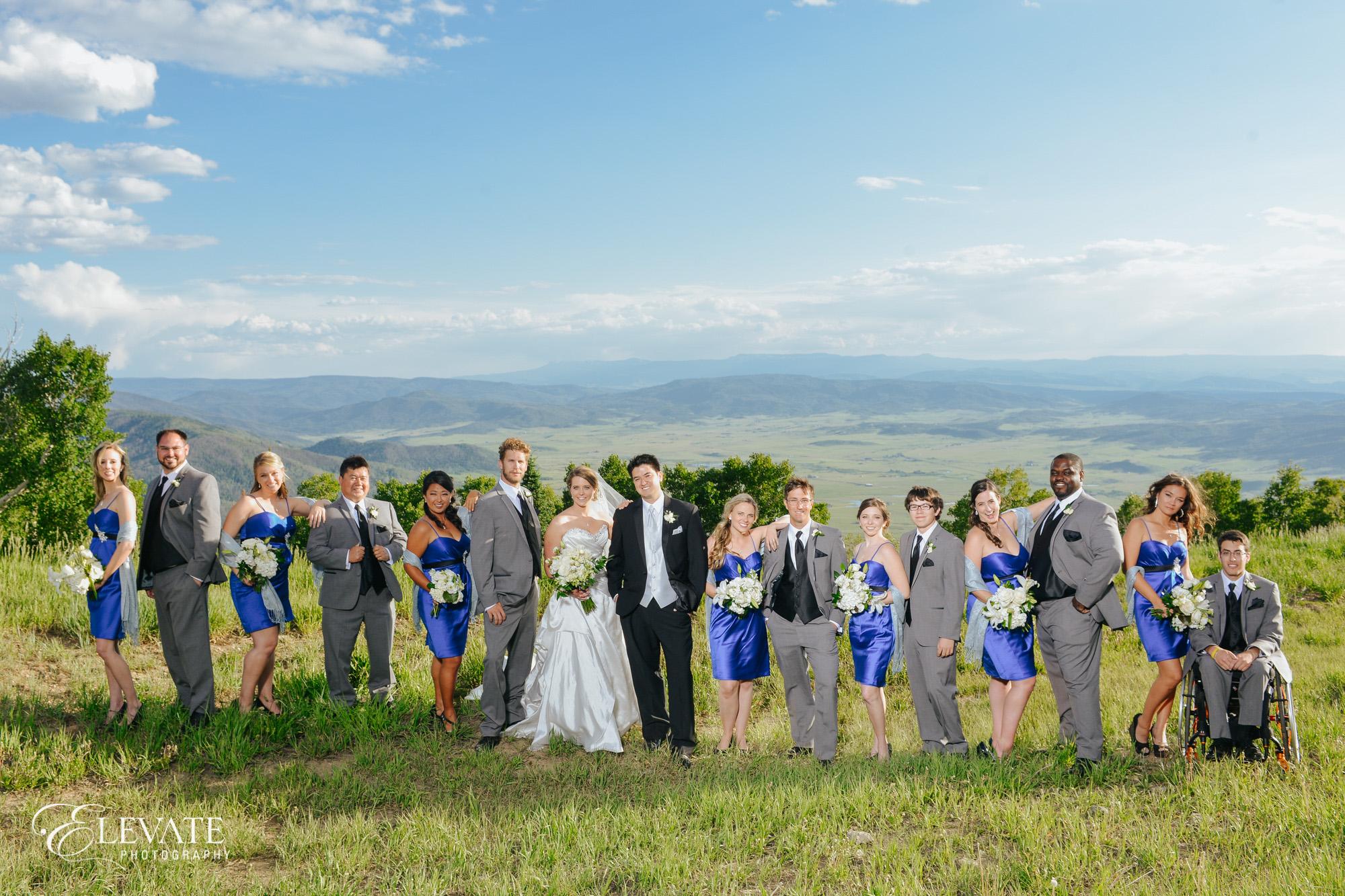 wedding party vista overlook
