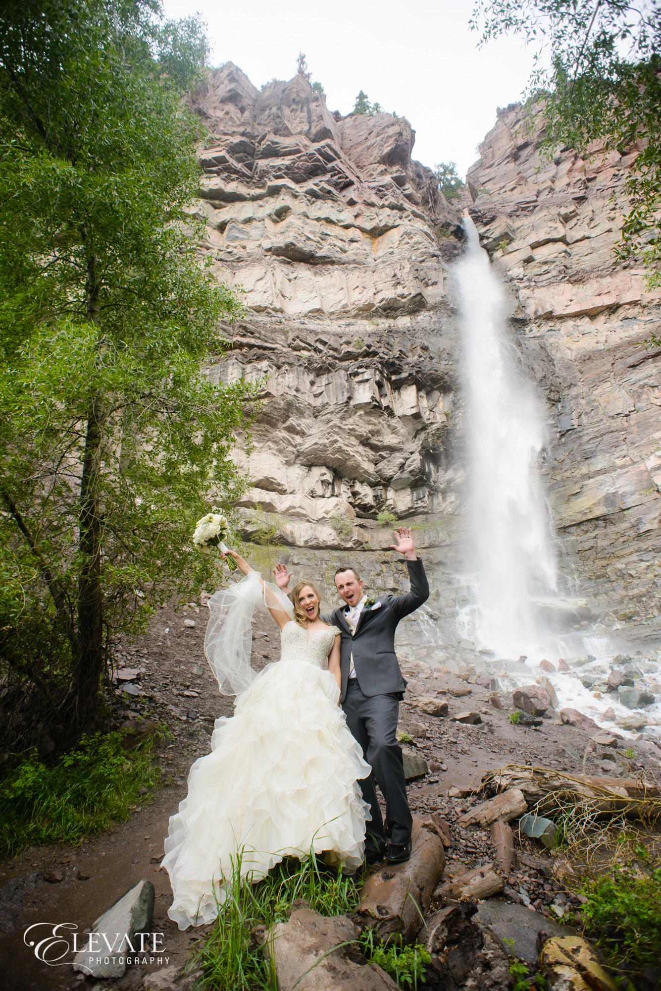 cascade waterfall wedding