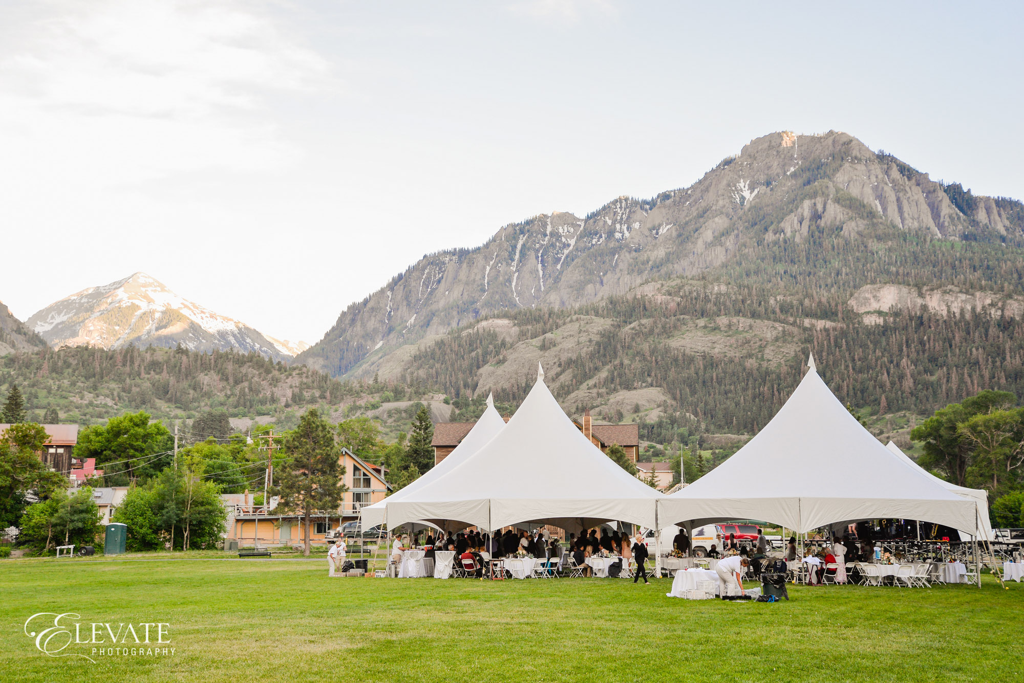 Ouray wedding reception tent