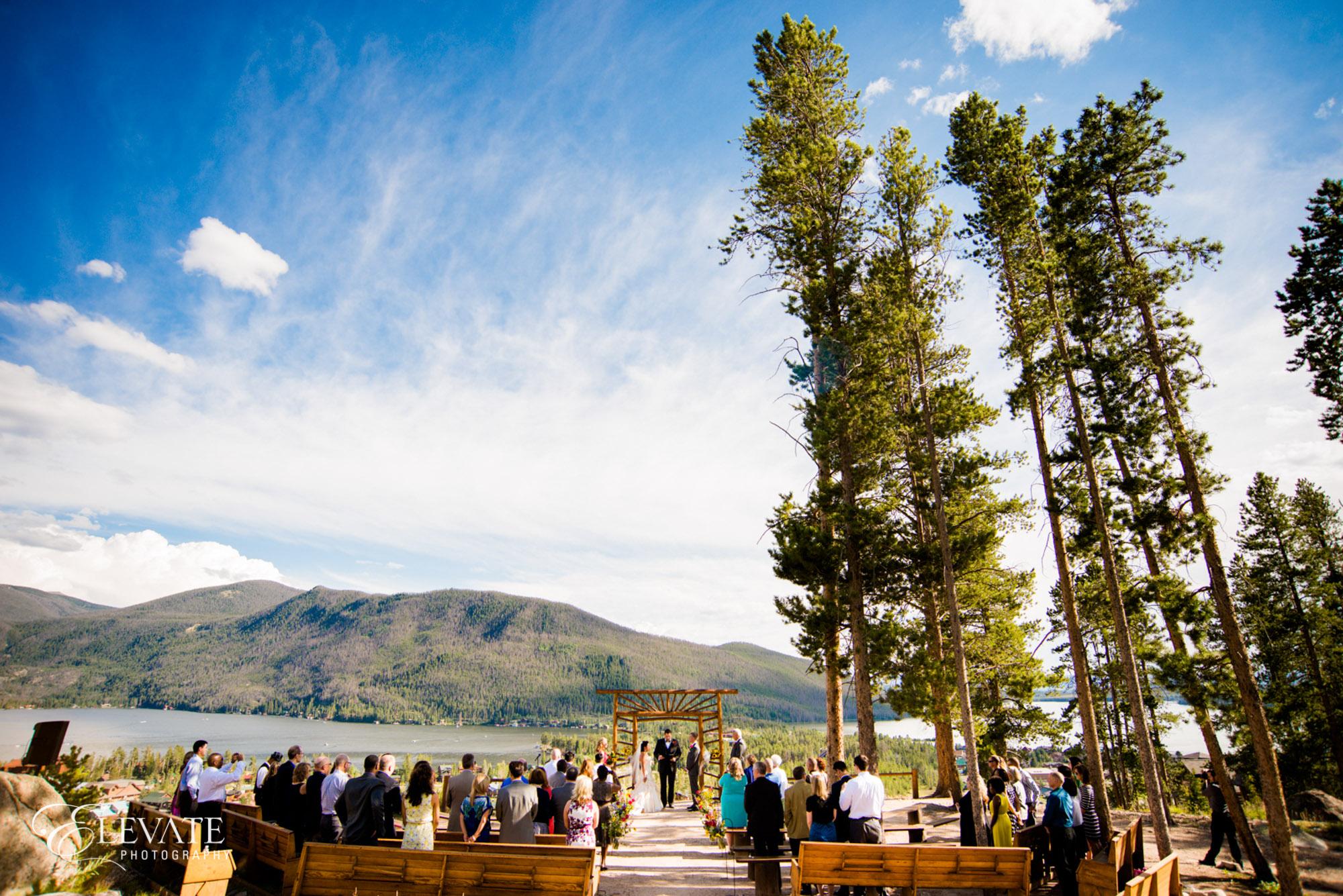 wedding ceremony mountain
