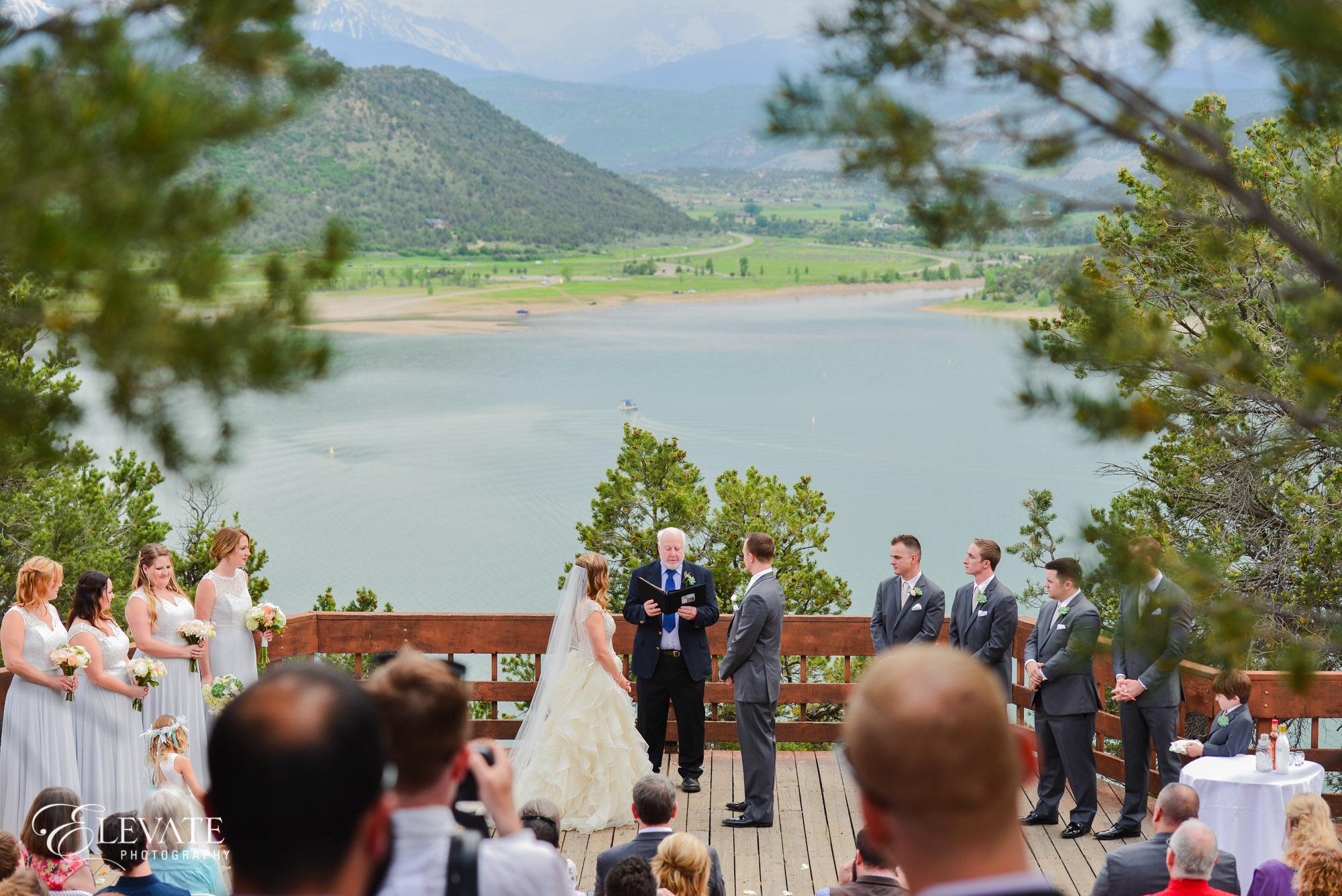 outdoor mountain ceremony ridgway