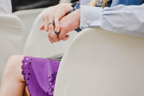 wedding ceremony guest rings