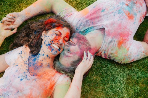 powder paint colorful engagement