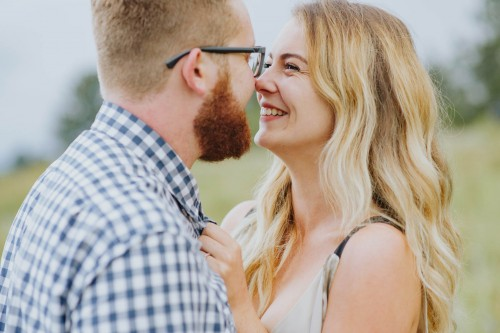 smiling engagement