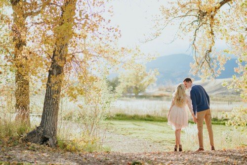 rustic blush dress fall engagement