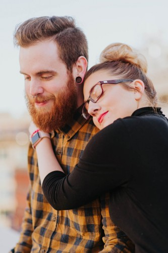 hipster engagement nose piercing