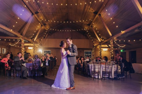 barn reception dance
