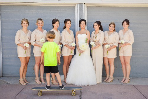 funny bridesmiads rompers skateboard