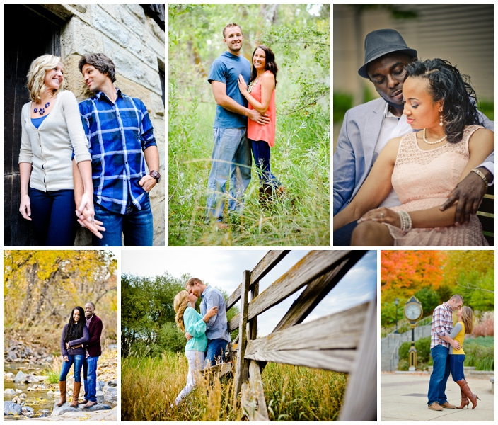 clothing coordination for engagement photos