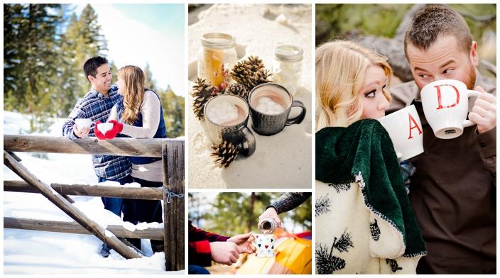 hot-chocolate winter engagement