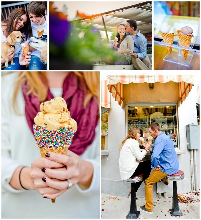 ice cream shop engagement