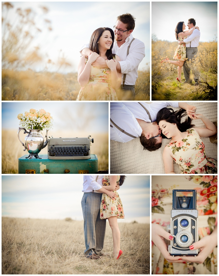 vintage themed engagement