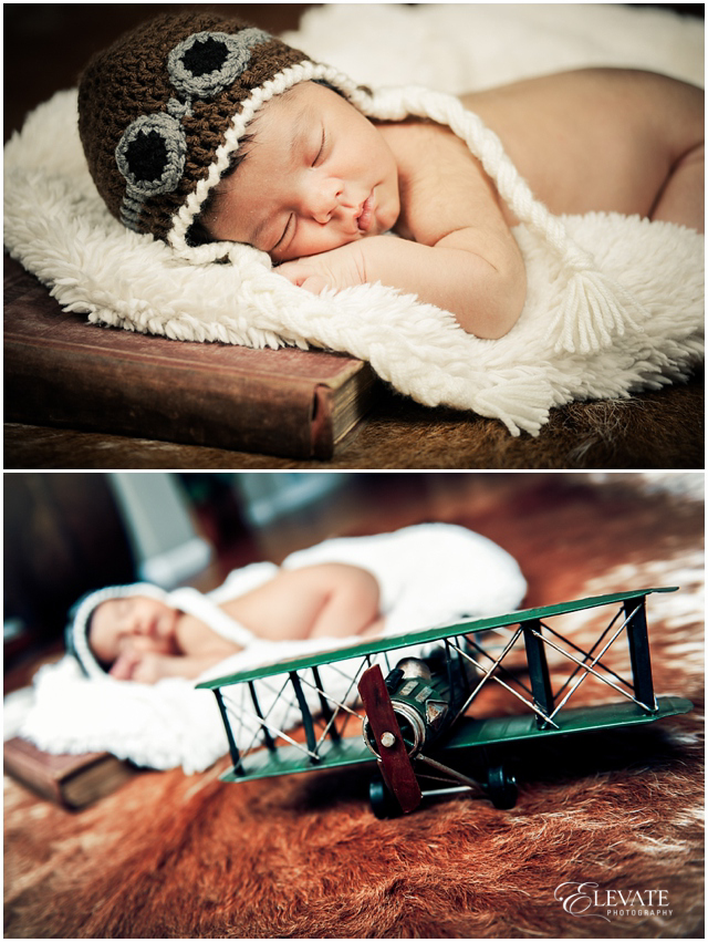 aviator themed newborn photos