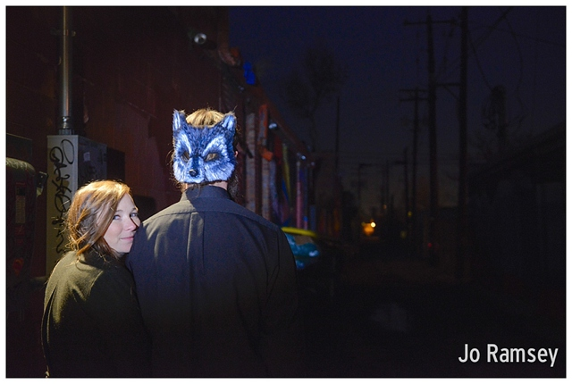 quirky indie denver engagement photography