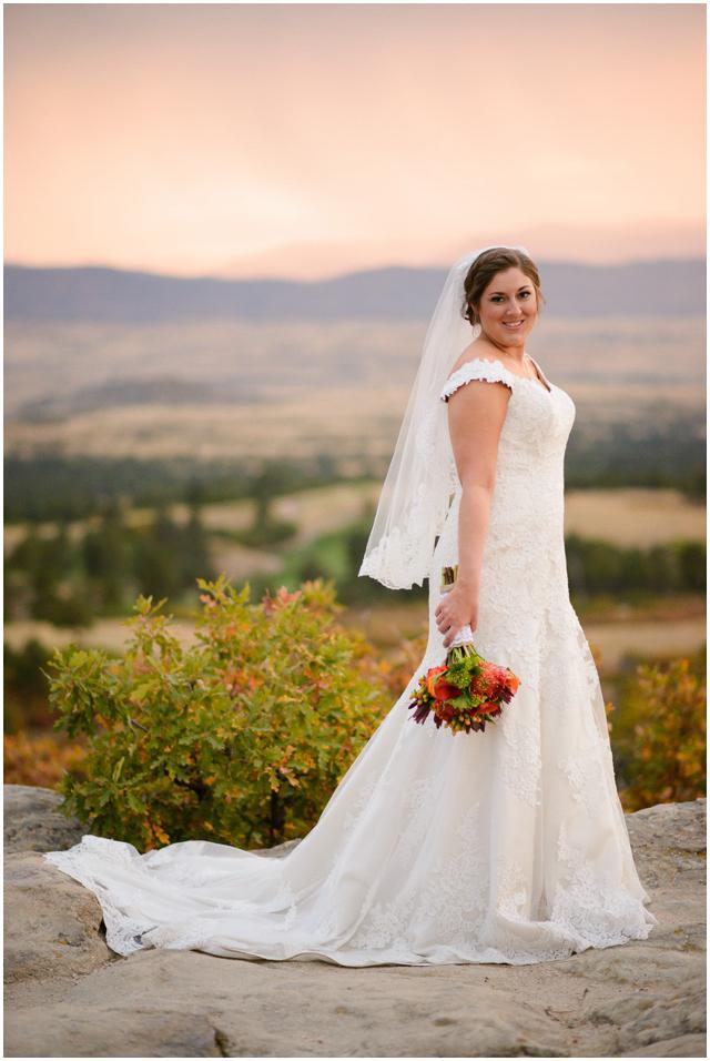Jenn Dan Cielo At Castle Pines Fall Wedding Photos