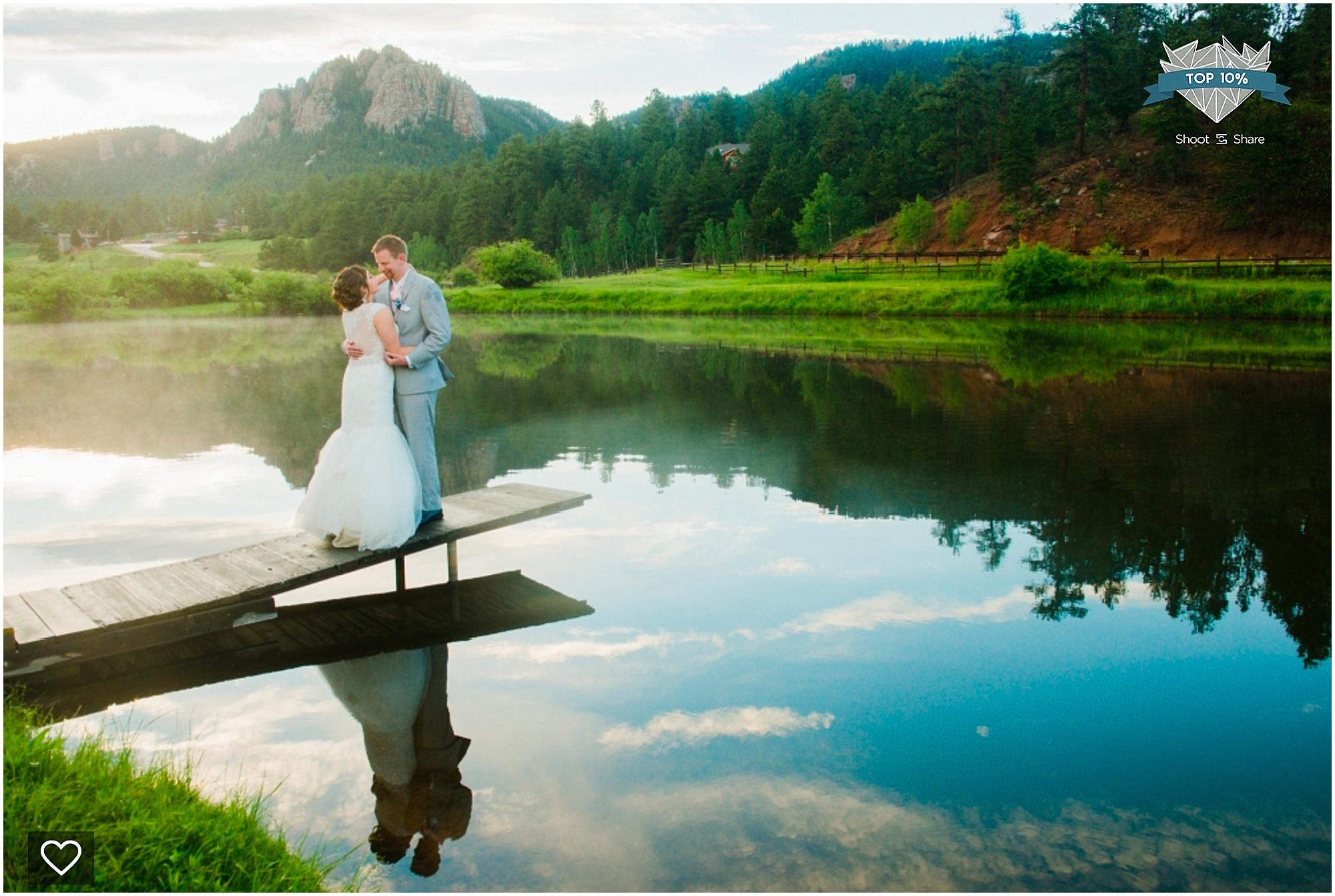 shoot and share, colorado wedding pictures, denver wedding pictures, colorado wedding photographer, colorado lake, couple near lake