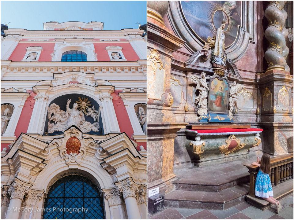 The amazingly intricate interior of the Parish Church of St. Stanislaus.
