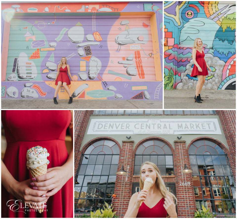 colorful wall art rino ice cream
