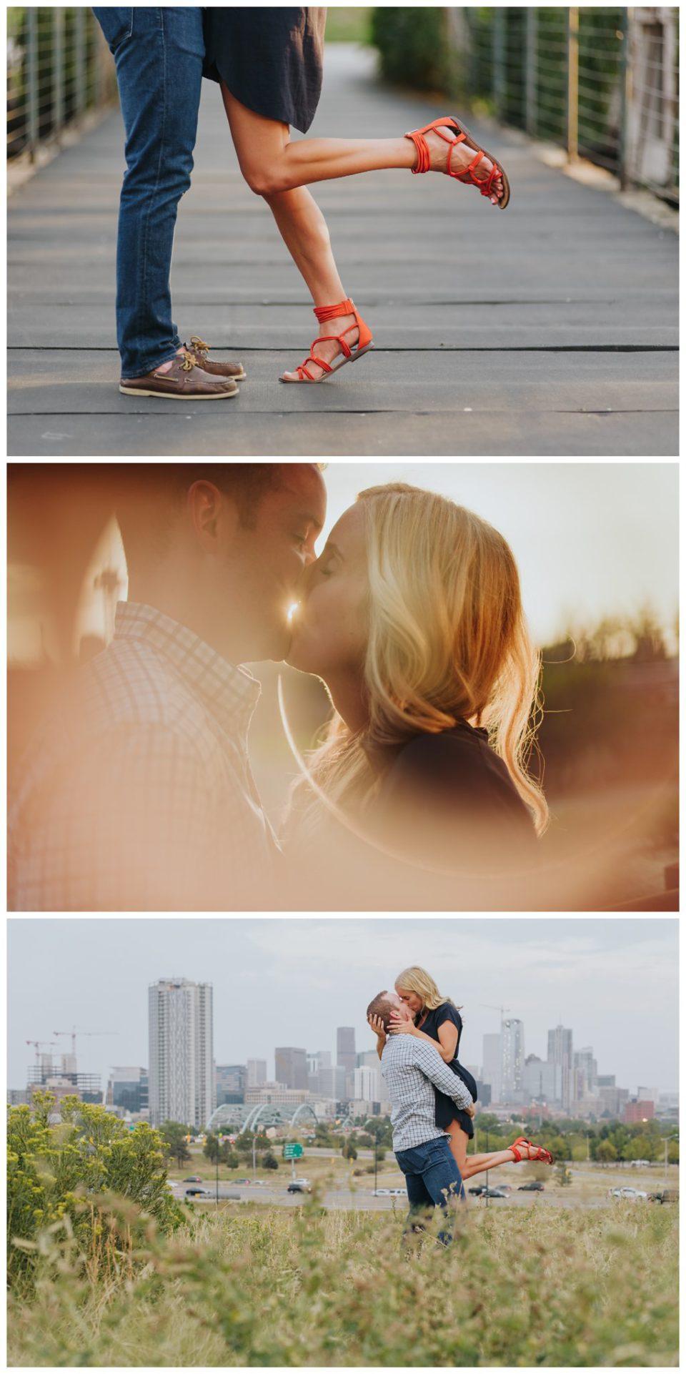 sunset kiss bridge skylinea