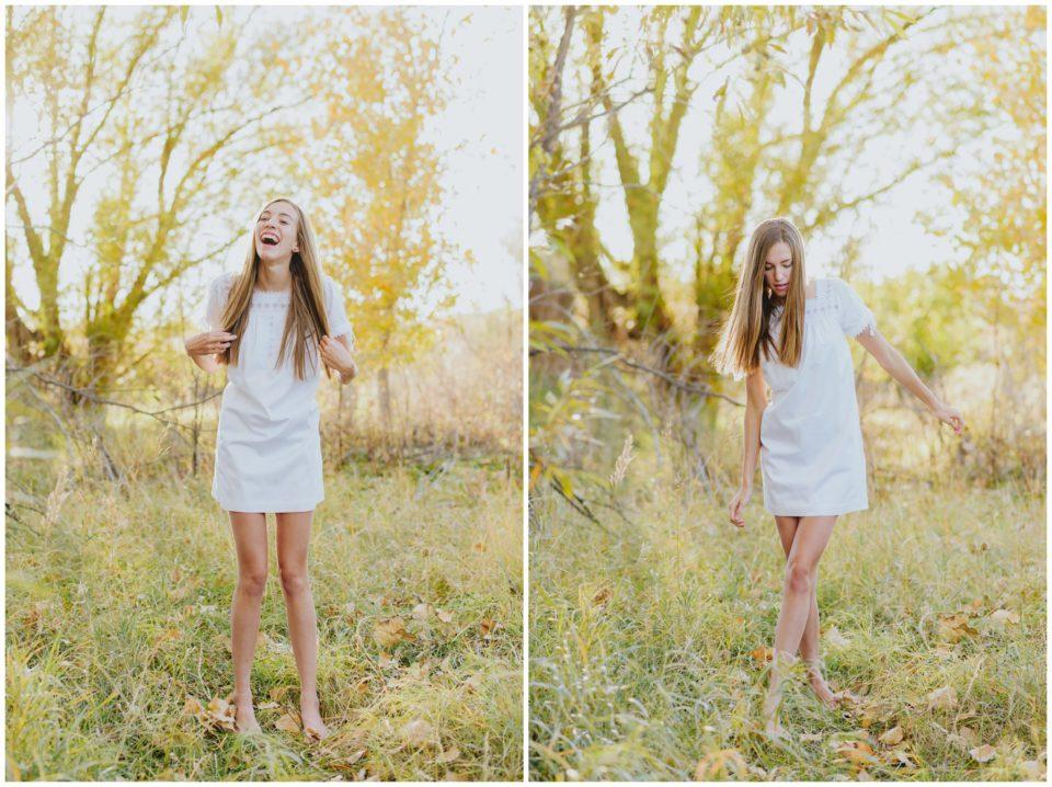 rustic senior white dress