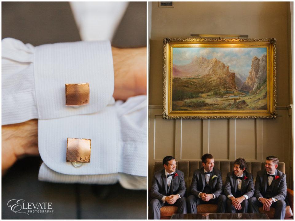 rust grooms cufflinks