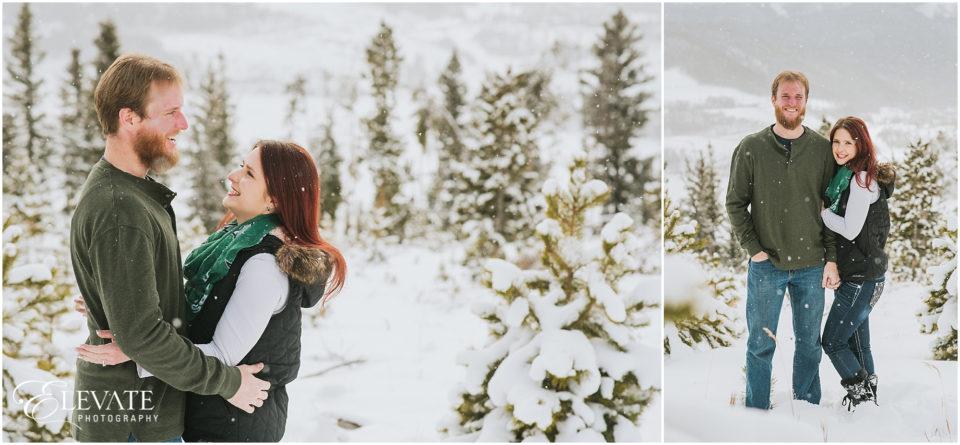 Breckenridge Winter Wonderland Engagement Photos